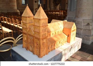 Lund, Sweden. 7 November 2018. The maquette of the Lund Cathedral.