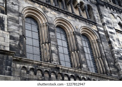 Lund, Sweden. 7 November 2018. The exterior of the Lund Cathedral - various detailed parts.