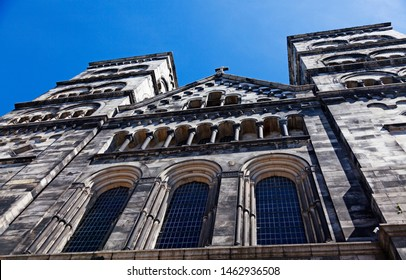 Lund's Cathedral seen from below