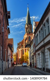 Luneburg, Germany - November 03, 2018: St. Nicolai chuch in Luneburg