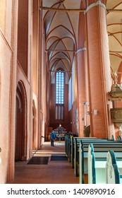Luneburg, Germany - November 03, 2018: Interior of St. Michaelis church in Luneburg