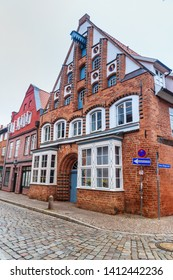 Luneburg, Germany - November 04, 2018: Medieval old brick building in Luneburg