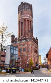 Luneburg, Germany - November 06, 2018: Wasserturm or old water tower in Luneburg