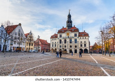 Luneburg, Germany - November 06, 2018: Town hall or Rathaus in Luneburg