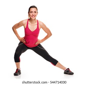 Lunge exercise fitness girl
