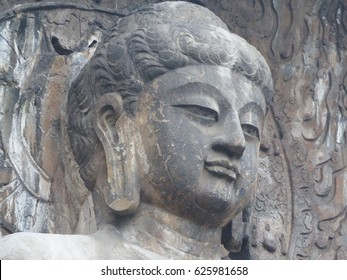 Luoyang / Longmen grottoes / picture showing some of the caves and sculptures in the Longmen Grottoes complex in Luoyang, China. Taken in October 2015.