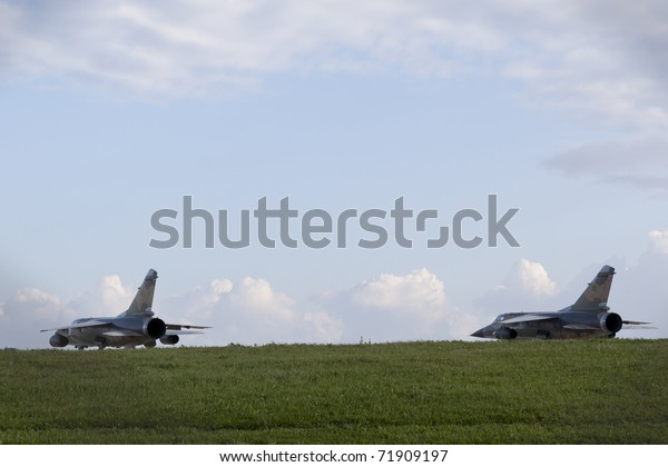 LUQA, MALTA - FEB 22 : Libyan Air Force Mirage jet fighters whose pilots defected from Libya and sought political asylum on Feb 22, 2011 in Luqa, Malta