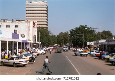 LUSAKA, ZAMBIA - MAY 31: City center on 31 May 2002 at Lusaka. Lusaka is the capital city of Zambia.