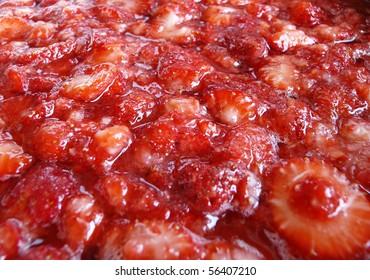 Luscious fresh strawberry jam