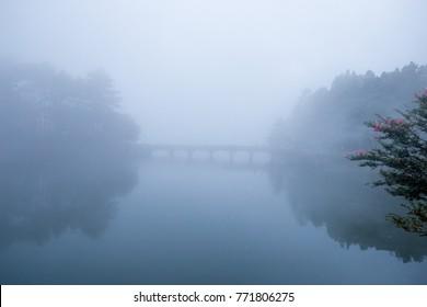 lushan national park Mt. Lushan National Park in Jiujiang, China. water reflection China world heritage