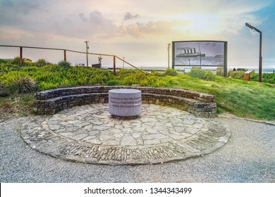 The Lusitania was torpedoed just a few miles from the shore of County Cork, Ireland, where it looms large in local culture. This memorial in County Cork commemorates the sinking. Ireland.