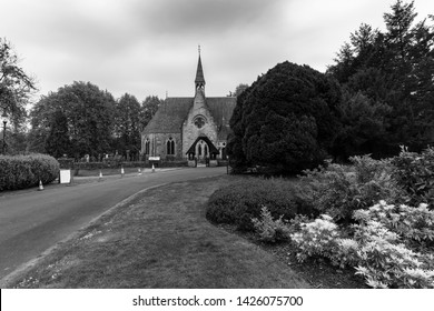 Luss Perish Church stood on the banks of Loch Lomond in black and white , Argyll & Bute, Scotland
