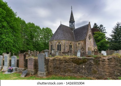 Luss , Scotland - May 16 , 2019 : Luss Perish Church stood on the banks of Loch Lomond in Argyll & Bute