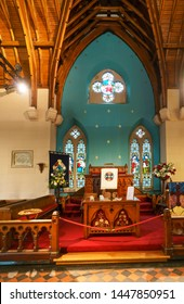 Luss , Scotland - May 16 , 2019 : Interior design in Luss Perish Church where is a significant site for religious tourism in Luss , Argyll and Bute