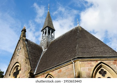Luss, UK - August 23, 2019 - Parish Church in Luss village in Argyll and Bute, Scotland, on the west bank of Loch Lomond