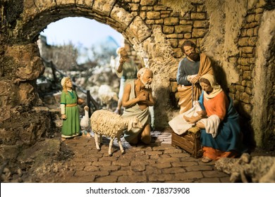 Lutago, Italy - December 23, 2016: Maranatha Museum, the largest crib exhibition in Europe. Are exposed various antiques and original Christmas cribs