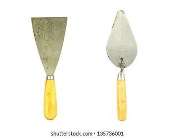 lute trowel tool for construction in white back ground
