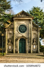 Lutheran church in Cristal Palace gardens, Oporto, Portugal