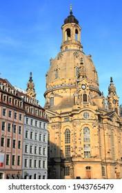 Lutherische Kirche Frauenkirche in Dresden. Sachsen, Deutschland, Europa.