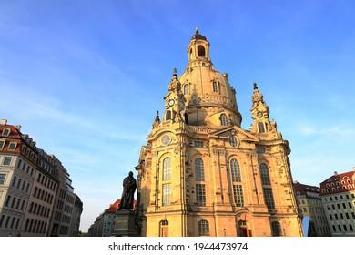 Lutherische Kirche in Dresden. Sachsen, Deutschland, Europa.