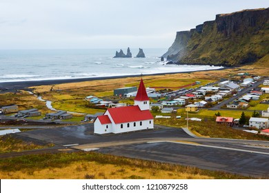 lutheran church in iceland. landscape of iceland. nature