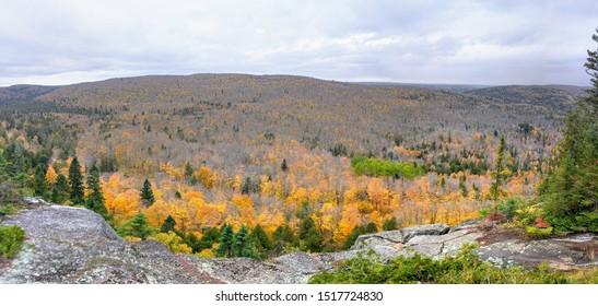 lutsen mountain in Fall, Duluth Minnesota