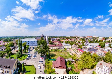 Lutsk, UKRAINE August, 2017: Lutsk, Ukraine - August, 2017: Lutsk cityscape from top of the Lubart castle.