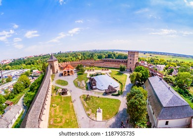 Lutsk, UKRAINE August, 2017: Lutsk High Castle, also known as Lubart's Castle, XIV's century.