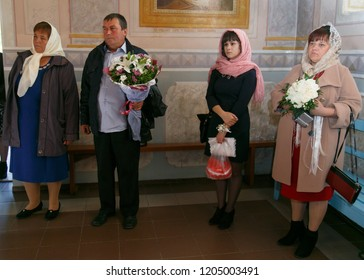 Lutsk, Volyn / Ukraine - September 30 2018: People believe faith religious in christianity church