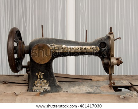 LUTTELGEEST HOLLAND SEPT 40 40 Vintage Stock Photo Edit Now Inspiration Isaac Singer Sewing Machine