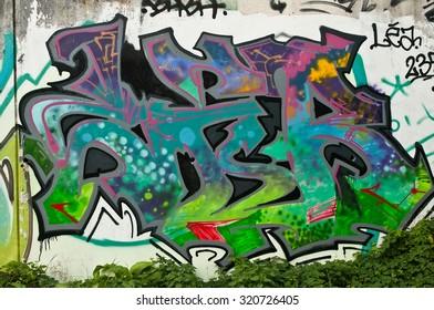 Lutterbach - France - 25 September 2015 - Abstract Graffiti