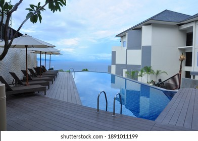 Luwuk City, Indonesia- 12th June 2017 : Beautiful pool area one of the best hotel and Villa in Central Sulawesi.Indonesia
