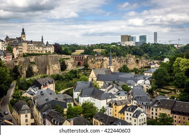 Luxembourg city in a cloud day