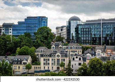 Luxembourg city in a cloudy day