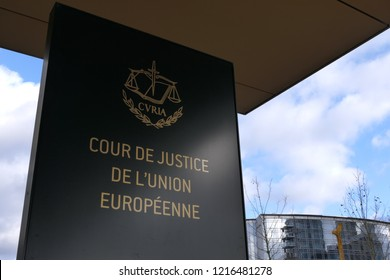 LUXEMBOURG CITY / LUXEMBOURG - DECEMBER 28, 2017: The European Court of Justice (CURIA) in Luxembourg