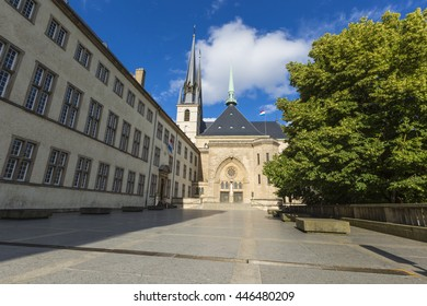 LUXEMBOURG CITY - LUXEMBOURG - JULY 01, 2016: Notre-dame Cathedral, Luxembourg Is The Roman Catholic Cathedral.