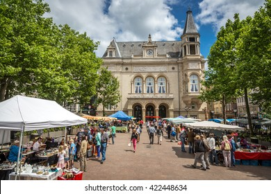 Luxembourg City, Luxembourg - June 20th 2014 - Tourists enjoying a walk through downtown Luxembourg City.