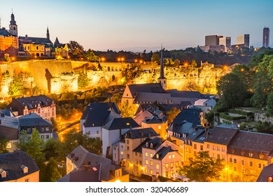 Luxembourg City Panorama on a summer day