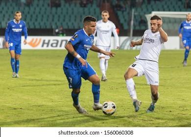 Luxembourg City/Luxembourg - november 7 2019 : Europa League football  match - F91 Dudelange vs Sevilla FC -Rony Lopes