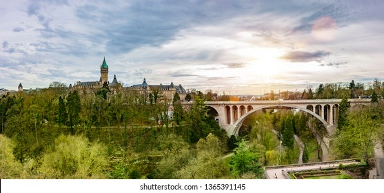 Luxembourg Cityscape Panorama