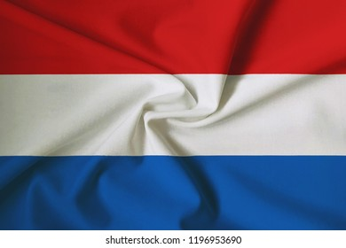 Luxembourg flag, with a fabric texture