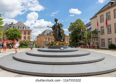 Luxembourg, Grand Duchy of Luxembourg - July 06, 2018: Monument to the Great duchess Charlotte in Luxembourg