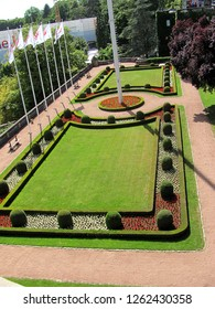 Luxembourg - July 21, 2015: View of Petrusse park in Luxemburg city