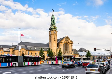 LUXEMBOURG, LUXEMBOURG - JUN 9, 2015: Luxembourg railway station. Luxembourg city is the capital of the Grand Duchy of Luxembourg