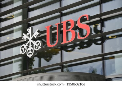 Luxembourg / Luxembourg - May 11, 2012: UBS Europe SE, branch Luembourg - UBS Group AG is a Swiss multinational investment bank and financial services company