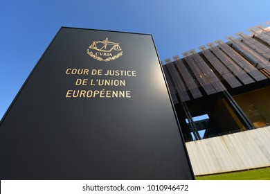 Luxembourg / Luxembourg - Oktober 3, 2014: The European Court of Justice on Kirchberg Plateau