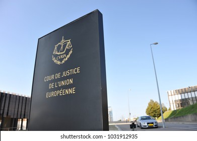 Luxembourg / Luxembourg - Oktober 3, 2014: The European Court of Justice on Kirchberg Plateau in Luxembourg