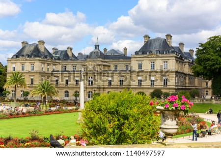 Luxembourg Palace Luxembourg Gardens Paris France Stock Photo Edit