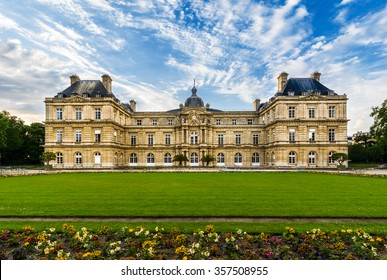 Luxembourg Palace was originally built (1615-1645) to be the royal residence of the regent Marie de Medici. It has been the seat of the French Senate of the Fifth Republic, Paris, France,Europe