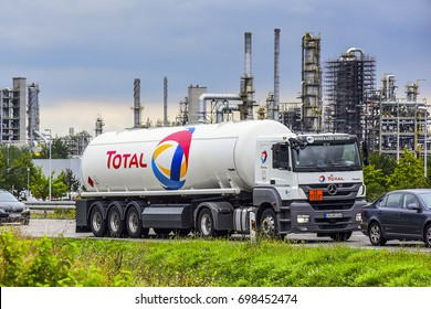 "LUXEMBOURG-AUG 11:TOTAL truck on August 11,2017 in Luxembourg.Total S.A. is a French multinational integrated oil and gas company and one of the seven ""Supermajor"" oil companies in the world."